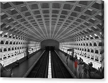Canvas Print featuring the photograph Washington Dc Subway by Geraldine Alexander