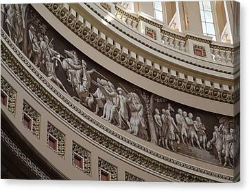 Detail Canvas Print - Washington Dc - Us Capitol - 011317 by DC Photographer