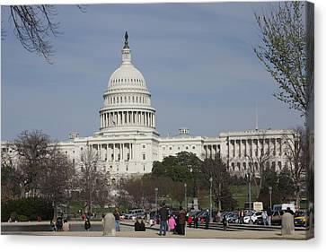 Washington Dc - Us Capitol - 01135 Canvas Print by DC Photographer