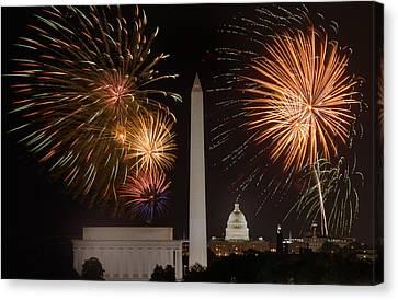 Washington Fireworks Canvas Print