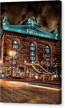 Washington Library 12-8-2013 Canvas Print by Michael  Bennett