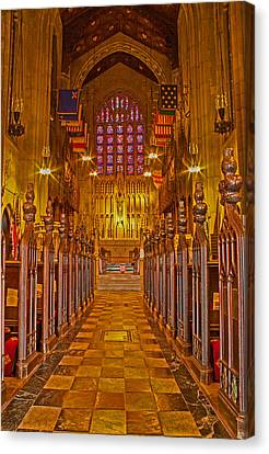 Washington Memorial Chapel Altar Canvas Print by Michael Porchik