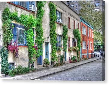 Washington Mews Canvas Print - Washington Mews In Greenwich Village by Randy Aveille