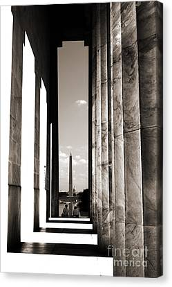 Washington Monument Canvas Print by Angela DeFrias