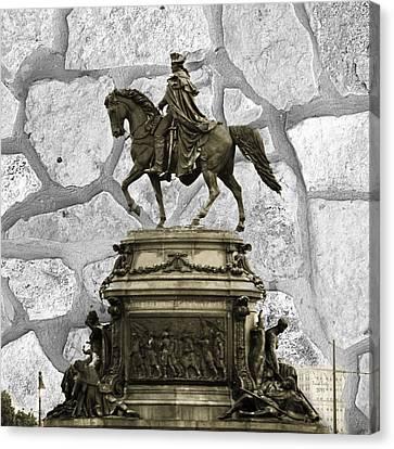 Washington Monument At Eakins Oval Canvas Print by Trish Tritz