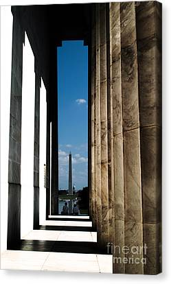 Washington Monument Color Canvas Print by Angela DeFrias
