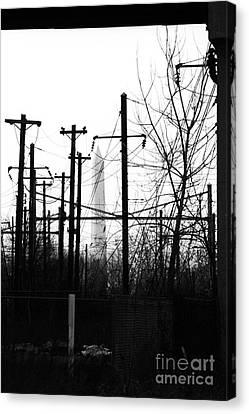 Washington Monument From The Train Yard. Washington Dc Canvas Print