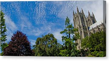 Canvas Print featuring the photograph Washington National Cathedral by Michael Donahue