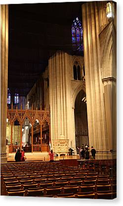 Philosophy Canvas Print - Washington National Cathedral - Washington Dc - 011312 by DC Photographer