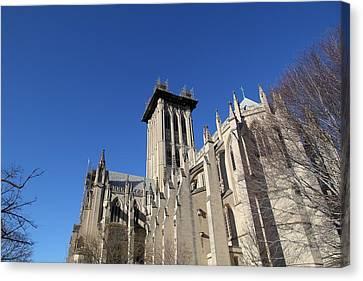 Washington National Cathedral - Washington Dc - 0113126 Canvas Print by DC Photographer