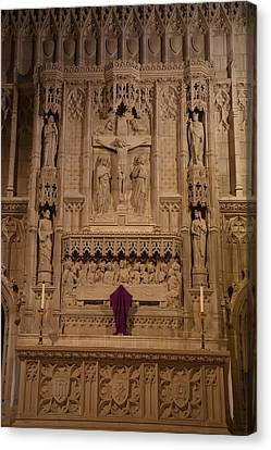 Marble Canvas Print - Washington National Cathedral - Washington Dc - 011324 by DC Photographer