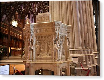 Washington National Cathedral - Washington Dc - 011395 Canvas Print by DC Photographer