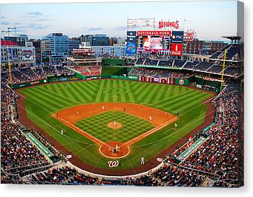 Washington Nationals Park Canvas Print by James Kirkikis