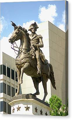 Washington On His Horse Canvas Print by Suzanne Powers
