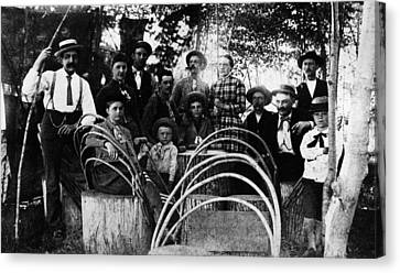 Canvas Print featuring the photograph Washington Pioneers, C1900 by Granger