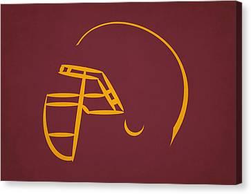 Washington Redskins Helmet Canvas Print by Joe Hamilton