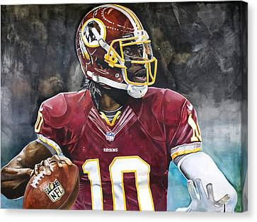 Washington Redskins' Robert Griffin IIi Canvas Print by Michael  Pattison