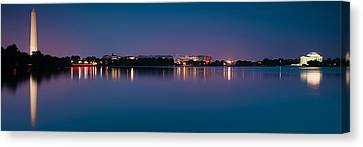 Canvas Print featuring the photograph Washington Skyline by Sebastian Musial
