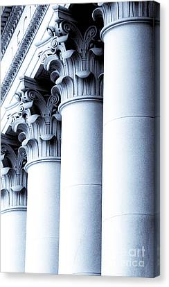 Canvas Print featuring the photograph Washington State Capitol Columns In Blue by Merle Junk
