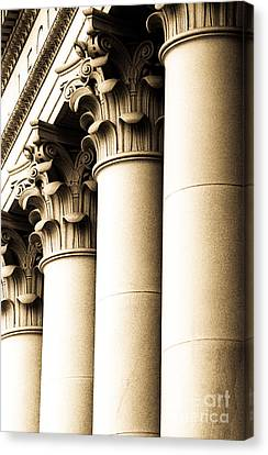 Canvas Print featuring the photograph Washington State Capitol Columns In Sepia by Merle Junk