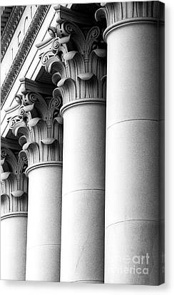 Canvas Print featuring the photograph Washington State Capitol Columns by Merle Junk