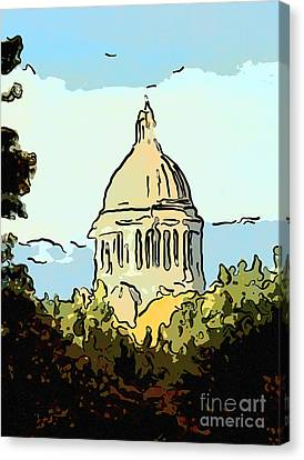 Washington State Legislative Building Abstract Canvas Print