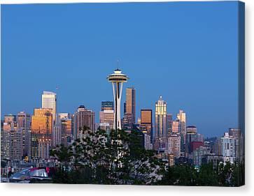 Jamie Canvas Print - Washington State, Seattle, Skyline View by Jamie and Judy Wild