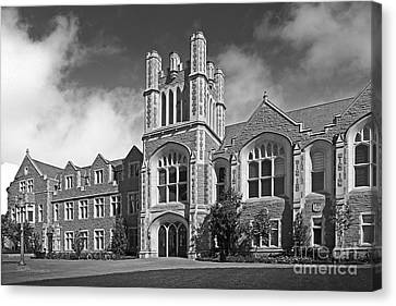 Washington University Anheuser- Busch Hall Canvas Print by University Icons