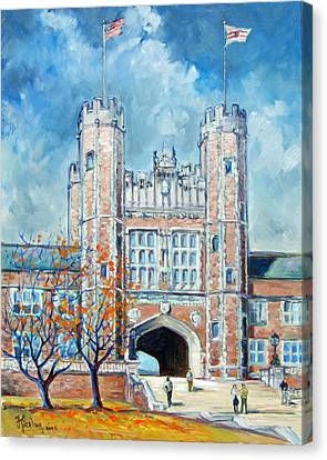 Washington University St.louis - Fall Canvas Print by Irek Szelag