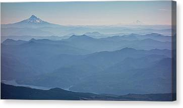 Washington View From Mount Saint Helens Canvas Print