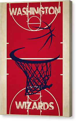 Washington Wizards Court Canvas Print by Joe Hamilton