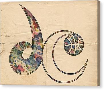 Nba Canvas Print - Washington Wizards Logo Vintage by Florian Rodarte