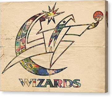 Washington Wizards Poster Art Canvas Print by Florian Rodarte
