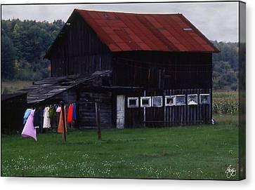 Washline And Barn Canvas Print