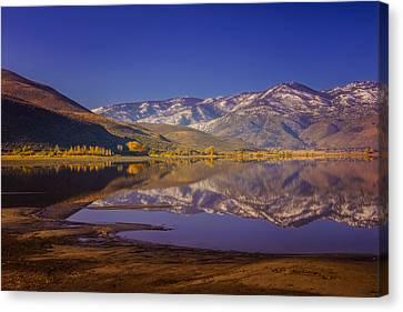 Washoe Lake In Late Fall Canvas Print