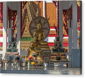 Wat Bukkhalo Central Roof-top Pavilion Buddha Images Dthb1812 Canvas Print by Gerry Gantt