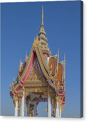 Wat Bukkhalo Front Roof-top Pavilion Gable Dthb1822 Canvas Print by Gerry Gantt
