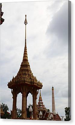 Wat Chalong - Phuket Thailand - 011313 Canvas Print by DC Photographer