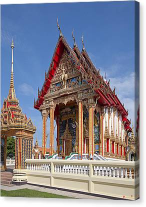 Canvas Print featuring the photograph Wat Choeng Thalay Ordination Hall Dthp138 by Gerry Gantt