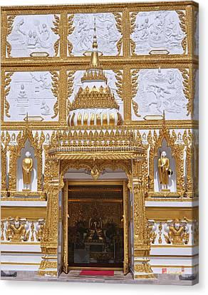 Wat Nong Bua Door Of Main Stupa Dthu448 Canvas Print by Gerry Gantt