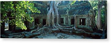 Wat Temple Complex Of Ta-prohm Cambodia Canvas Print by Panoramic Images