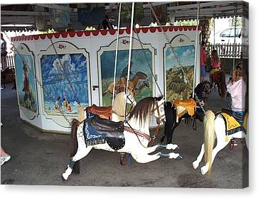 Canvas Print featuring the photograph Watch Hill Merry Go Round by Barbara McDevitt
