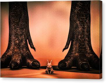 Watch Out Little Bunny Canvas Print by Bob Orsillo