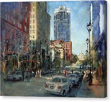 Watch Over Fayetteville Street Canvas Print