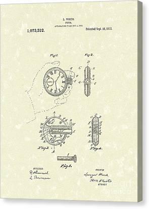 Watch Pistol 1913 Patent Art Canvas Print