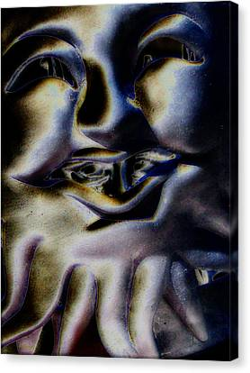 Watch What You Say Canvas Print by Rebecca Flaig