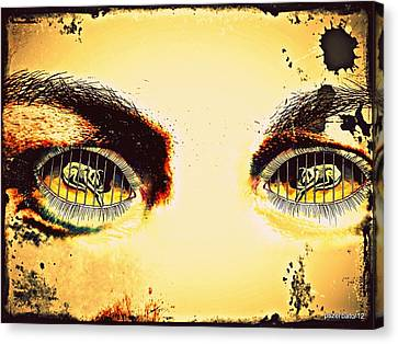 Watch With Indifference Canvas Print by Paulo Zerbato