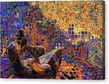 Watching And Waiting Canvas Print by Jack Zulli