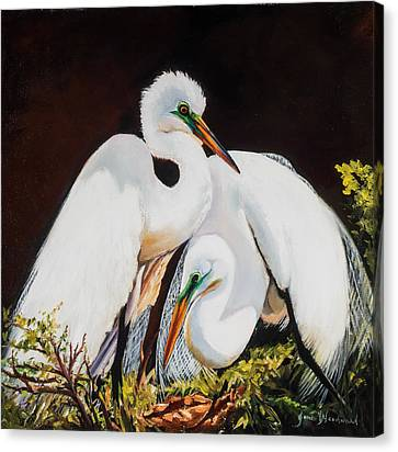 Watching Over Her Canvas Print by Jane Woodward