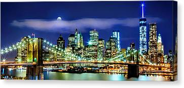 New York City Skyline Canvas Print - Watching Over New York by Az Jackson